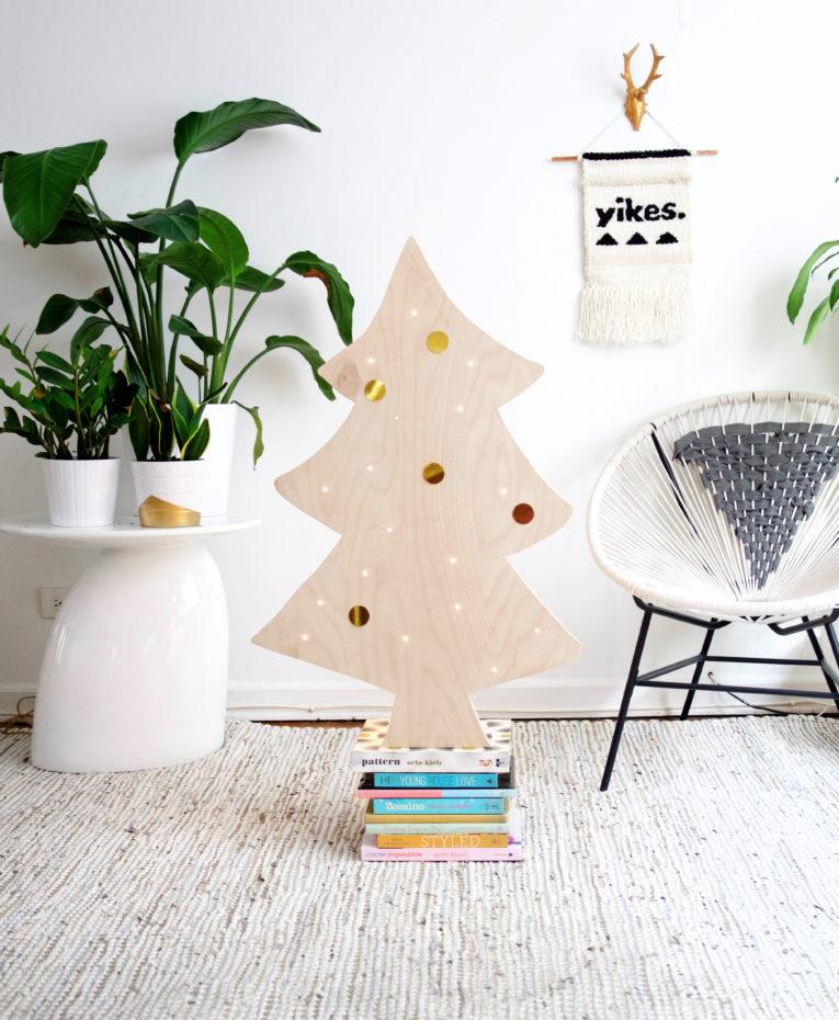 low key diy christmas tree